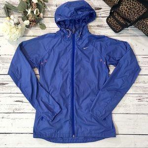Nike running windbreaker full zip hooded jacket